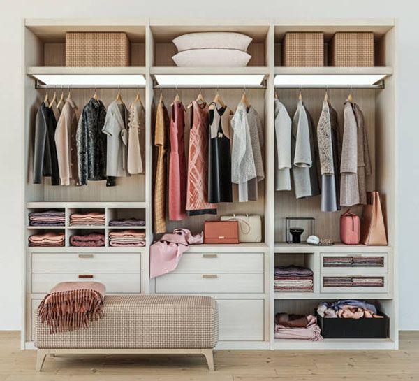 Cách sắp xếp quần áo gọn gàng