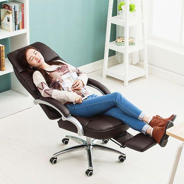 ghế ngủ văn phòng cao cấp bọc da công nghiệp
