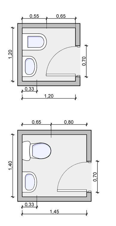 phòng tắm diện tích 1m2