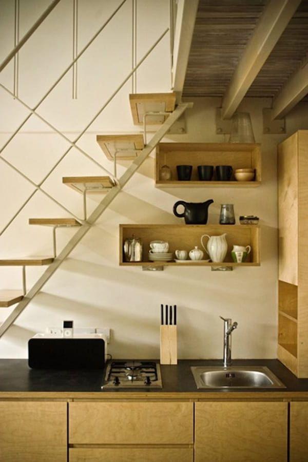 bếp dưới cầu thang như thế nào