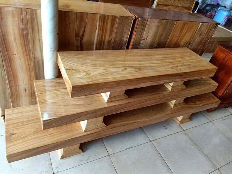 kệ tivi 3 tấm gỗ đẹp bằng gỗ pơ mu