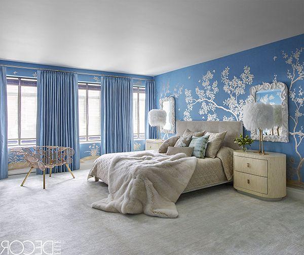 phòng ngủ màu xanh da trời đẹp